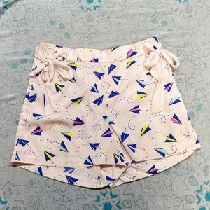 Aerie paper airplane print lounge shorts 2080